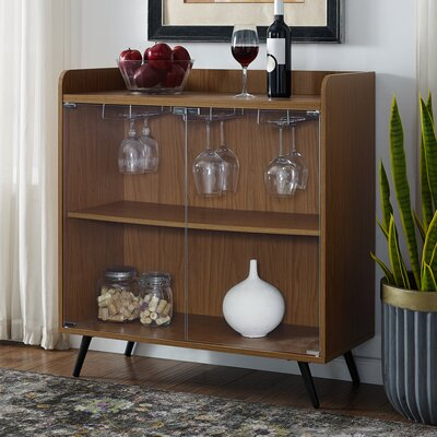 Octavio Glass Door Bar Cabinet Color: Acorn