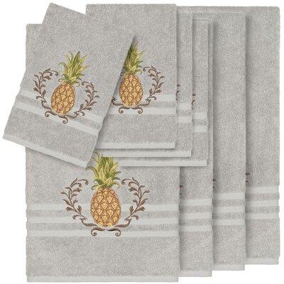 Rosalez 8 Piece Turkish Cotton Towel Set Color: Light Gray