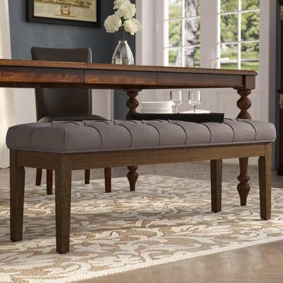 Neumann Wood Bench Upholstery Color: Gray
