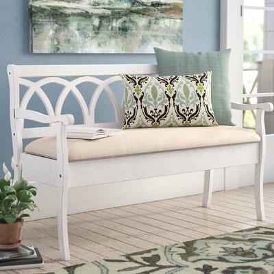 Rome Wood Storage Bench Color: Antique White