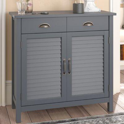 Dobson Wood 2 Door Accent Cabinet Color: Gray