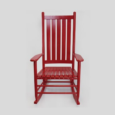 Thor Rocking Chair Color: Sienna Red
