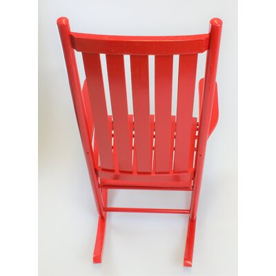 Thor Rocking Chair Color: Red