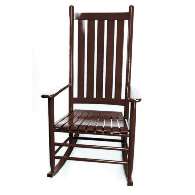 Thor Rocking Chair Color: Walnut