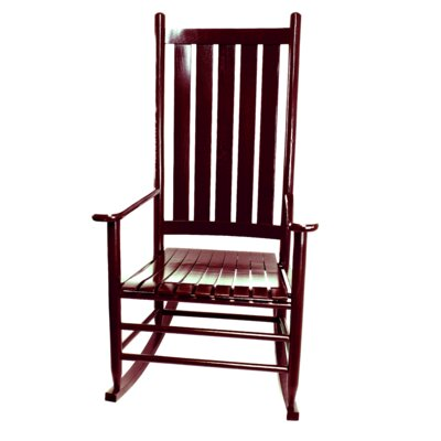 Thor Rocking Chair Color: Cranberry