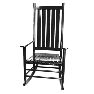 Thor Rocking Chair Color: Black