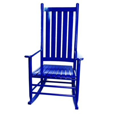 Thor Rocking Chair Color: Blue