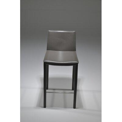"Brompton 26"" Bar Stool (Set of 2) Upholstery: Gray"