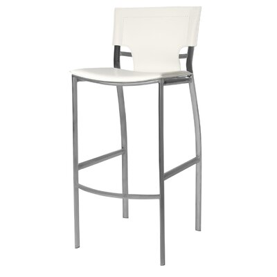 "Hayley 30"" Bar Stool (Set of 2) Upholstery: White"