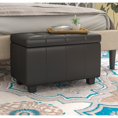Allenwood Upholstered Storage Bench Upholstery: Black