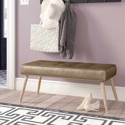 Nastya Bench Upholstery Color: Sizzle Copper