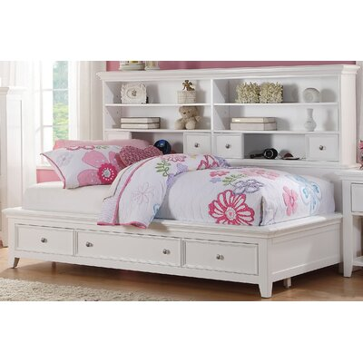 Congdon Mate's Bed with Drawers Size: Twin, Bed Frame Color: Cherry Oak