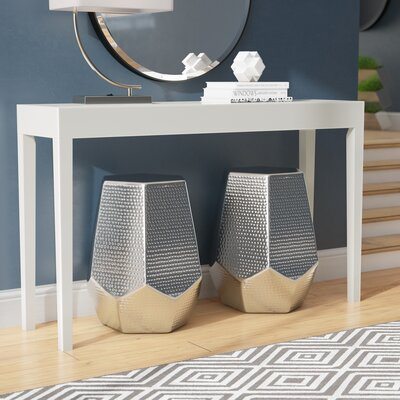 Kadyn Console Table Color: White
