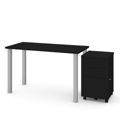 Liberty 2 Piece Desk Office Suite Color: Black