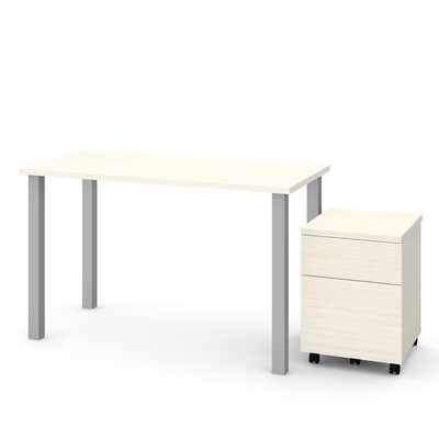 Esperanza 2 Piece Desk Office Suite Color: White Chocolate