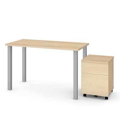 Esperanza 2 Piece Desk Office Suite Color: Maple