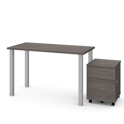 Esperanza 2 Piece Desk Office Suite Color: Bark Gray