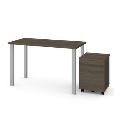 Esperanza 2 Piece Desk Office Suite Color: Antigua