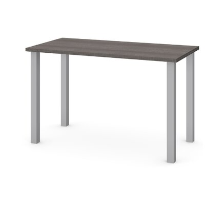 "Skyla Training Table with Square Metal Legs Tabletop Finish: Dark Gray, Size: 29"" H x 47.6"" W x 24"" D"