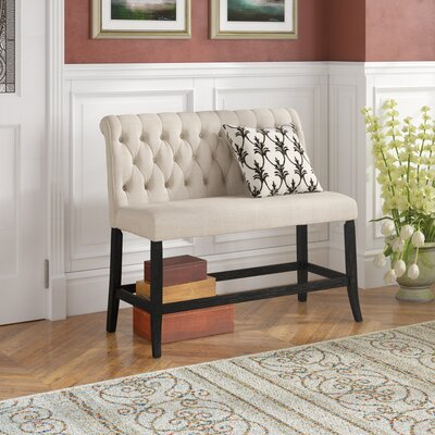 Tomasello Upholstered Bench Upholstery: Ivory