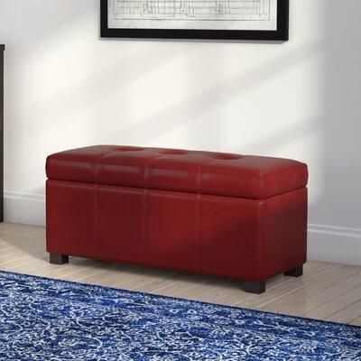 Borchardt Upholstered Storage Bench Color: Red