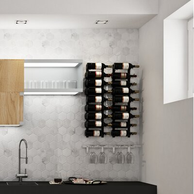 Wall Series Contemporary Wet Bar 36 Bottle Wall Mounted Wine Rack Finish: Satin Black