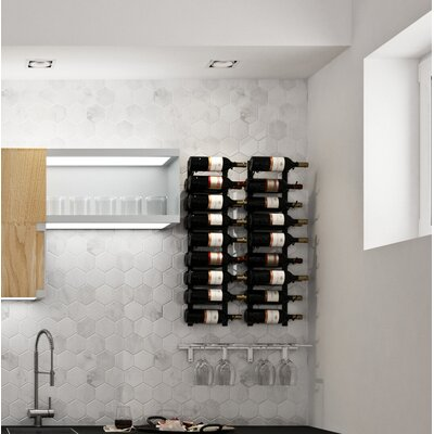 Wall Series Contemporary Wet Bar 36 Bottle Wall Mounted Wine Rack Finish: Brushed Nickel