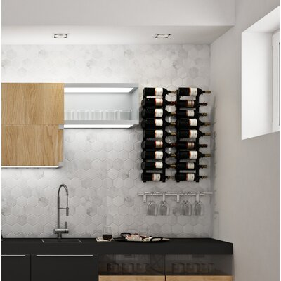 Wall Series Contemporary Wet Bar 36 Bottle Wall Mounted Wine Rack Finish: Chrome