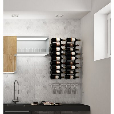 Wall Series Contemporary Wet Bar 52 Bottle Wall Mounted Wine Rack Finish: Chrome