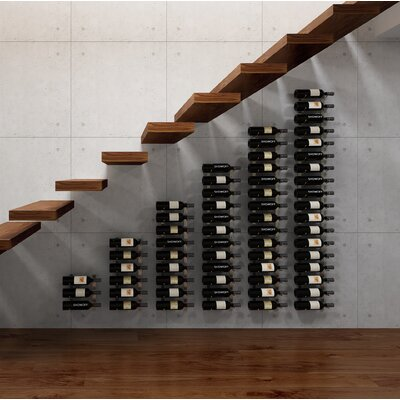 Wall Series Modular Under the Stairs 126 Bottle Wall Mounted Wine Rack Finish: Satin Black
