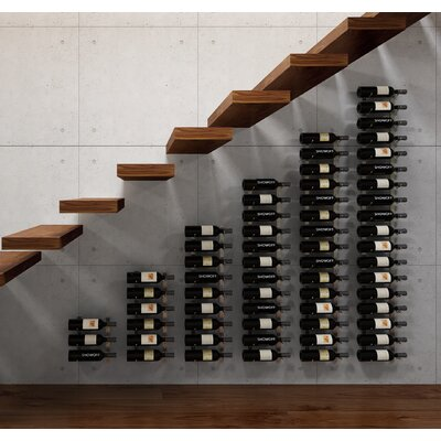 Wall Series Modular Under the Stairs 126 Bottle Wall Mounted Wine Rack Finish: Brushed Nickel