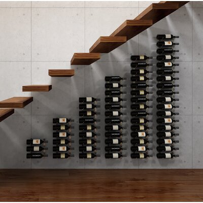 Wall Series Modular Under the Stairs 126 Bottle Wall Mounted Wine Rack Finish: Chrome