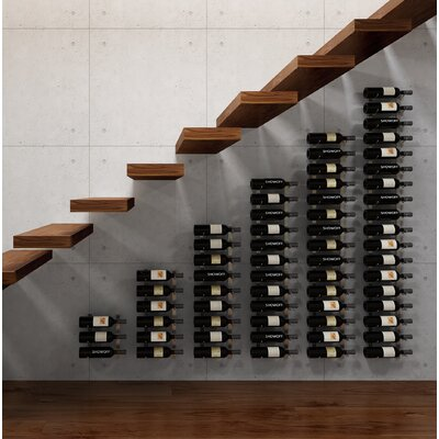 Wall Series Modular Under the Stairs 63 Bottle Wall Mounted Wine Rack Finish: Satin Black