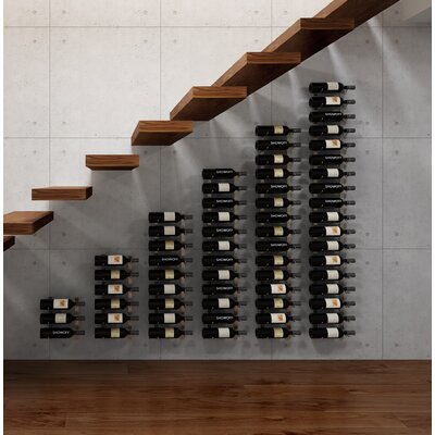 Wall Series Modular Under the Stairs 63 Bottle Wall Mounted Wine Rack Finish: Brushed Nickel
