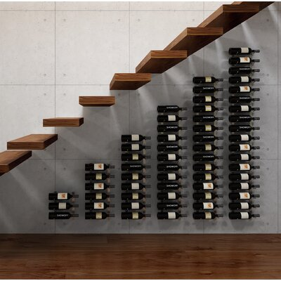 Wall Series Modular Under the Stairs 63 Bottle Wall Mounted Wine Rack Finish: Chrome