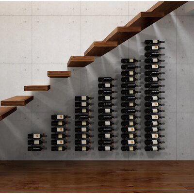Wall Series Modular Under the Stairs 189 Bottle Wall Mounted WIne Rack Finish: Satin Black