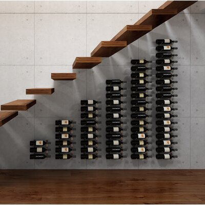 Wall Series Modular Under the Stairs 189 Bottle Wall Mounted WIne Rack Finish: Brushed Nickel
