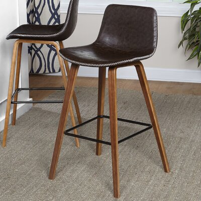 "Maloney 24"" Bar Stool Size: 31.6"" x 20.1"" W x 18"" D"