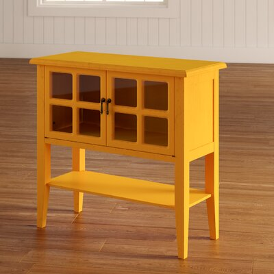 Rhinelander 2 Door Accent Cabinet Color: Orange