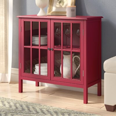 Dittmar 2 Door Accent Cabinet Color: Red