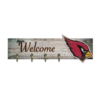 Wall Mounted Coat Rack NFL Team: Arizona Cardinals
