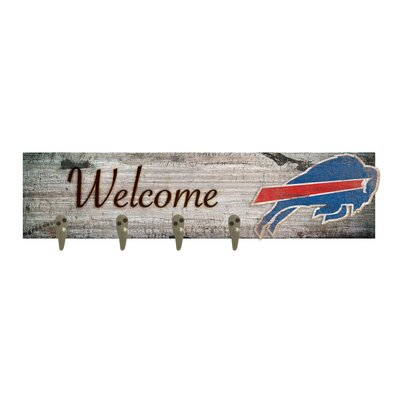 Wall Mounted Coat Rack NFL Team: Buffalo Bills