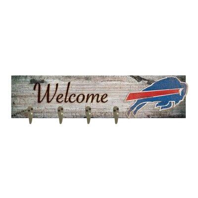 Wall Mounted Coat Rack NFL Team: Buffalo Bills