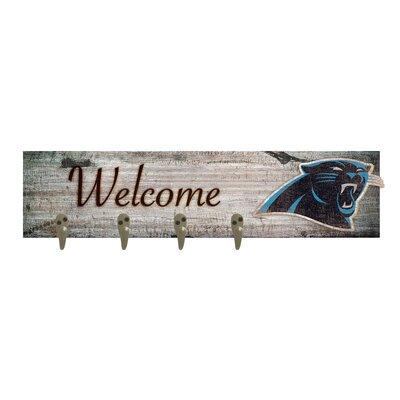 Wall Mounted Coat Rack NFL Team: Carolina Panthers