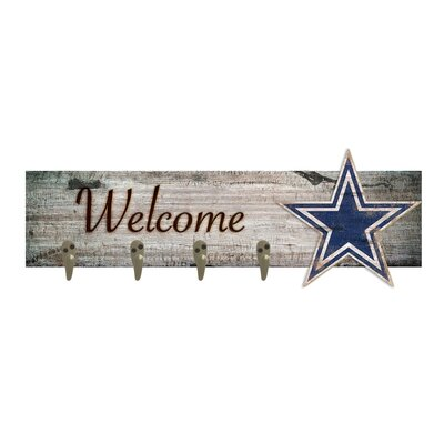 Wall Mounted Coat Rack NFL Team: Dallas Cowboys