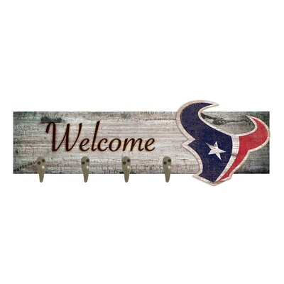 Wall Mounted Coat Rack NFL Team: Houston Texans