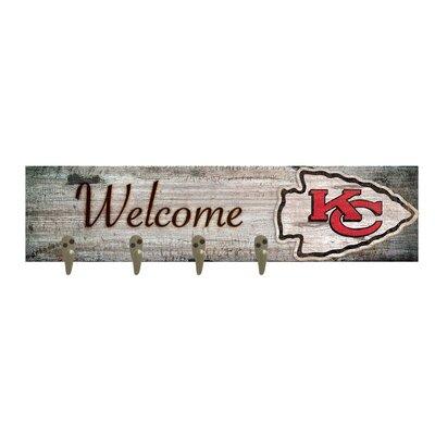 Wall Mounted Coat Rack NFL Team: Kansas City Chiefs