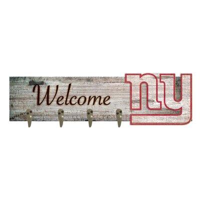 Wall Mounted Coat Rack NFL Team: New York Giants
