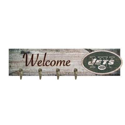 Wall Mounted Coat Rack NFL Team: New York Jets