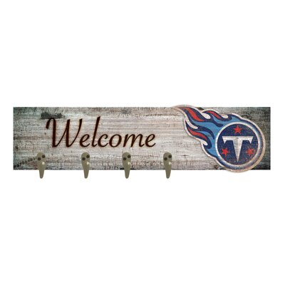 Wall Mounted Coat Rack NFL Team: Tennessee Titans